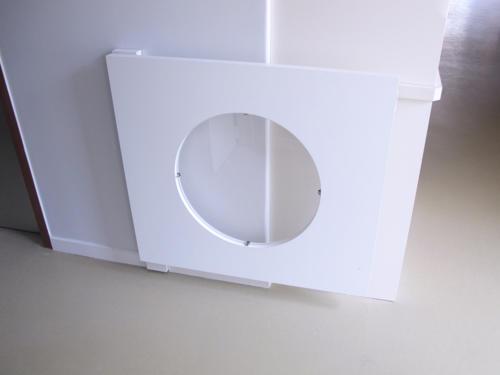 Portillon de crèche blanc